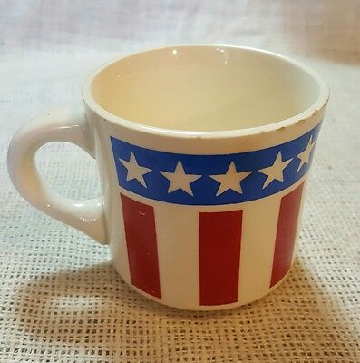 Vintage Red, White, And Blue SAMBO'S Restaurants Ceramic Coffee Mug U.S.A.