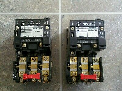 Square D Sc03 Ser. A. Square D 8536. Nema Size 1 Starter/contactor. Tested. Good