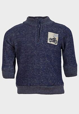 Kids stuff: baby / toddler boys blue half zip sweat top jumper 12, 18, 24 months