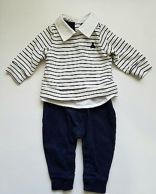babyGap Infant Boy One Piece Cotton Striped outfit 3-6 Months