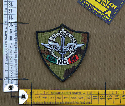 "Ricamata / Embroidered Patch IT SF 4°Rgt ""Ranger"" Veget. with VELCRO® brand hook"