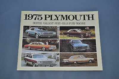 1975 Plymouth Full Line Sales Brochure Fury Duster Valiant Wagon Canadian NOS