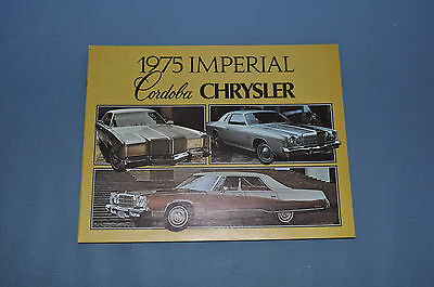 1975 Chrysler Full Line Sales Brochure Cordoba Imperial Wagon Canadian NOS
