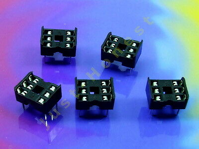 Stk. 5 x DIP 6 IC SOCKEL / SOCKET #A239