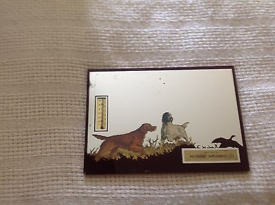 Nice Vintage Hunting Mirrored Thermometer Picture