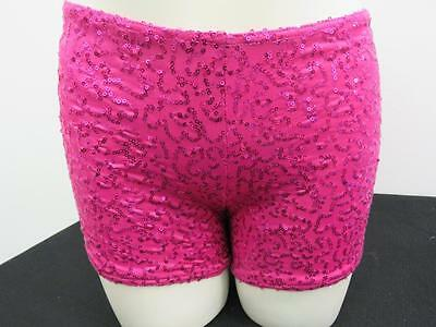 Dance Small Adult Pink Sequin Booty Shorts Ballet Hip Hop Jazz Contemporary