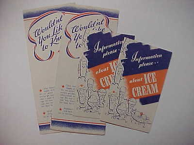 Information Please About Ice Cream - Nat. Dairy Council 1943