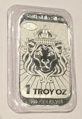 2013 Lion Head Scottsdale Mint $2 Niue .999 Fine Silver 1 Troy Oz Coin Bar Shape