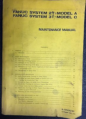 Fanuc Model 2T Model A/ 3T Model C Maintenance Manual B-53945E/02 Plus Handbook