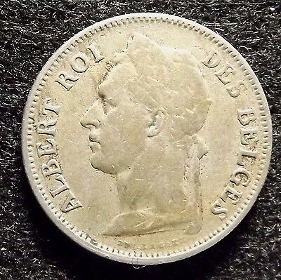 Belgian Congo 50 Centimes 1925 - Nicely Detailed Coin, KM# 22  (#754)
