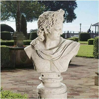 "Ancient Greek God Apollo Belvedere Large 32.5"" Replica Statue Bust By Leochares"