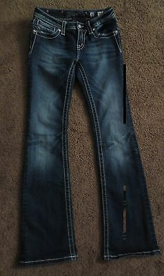 MISS ME Girls BOOT Cut Dark Wash Jeans Size 14