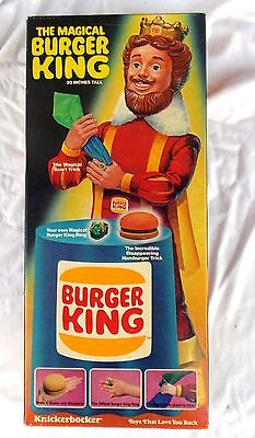 Vintage 1980 Knickerbocker The Magical Burger King Doll New in Box