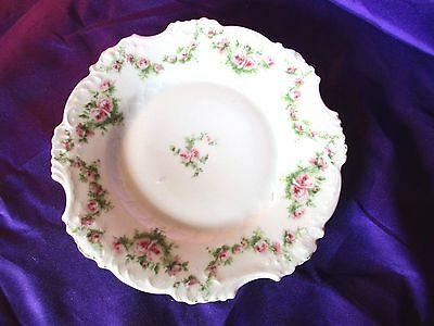 Antique floral roses  plate , German Porcelain   roses plate c-1900,Silesia
