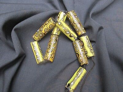 Antique African Tribal Trade beads / Old Venetian Glass Trade Beads Necklace