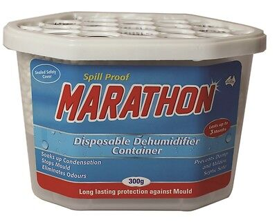 Dehumidifier Moisture Absorber Disposable Container 300gm x 6 units