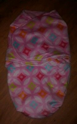 Blankets And Beyond Pink Geometric Swaddle Blanket Baby Infant Girl Small 0-3 NB
