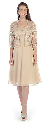 Mother of the Bride Short Dress 8735SF Four Colors