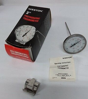 "Weston 3"" Photographic Thermometer Model 4135"