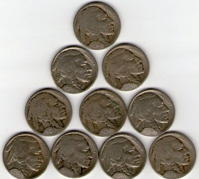 D & S Mint Buffaloes; 15 Different 1913-29 Restored Dates