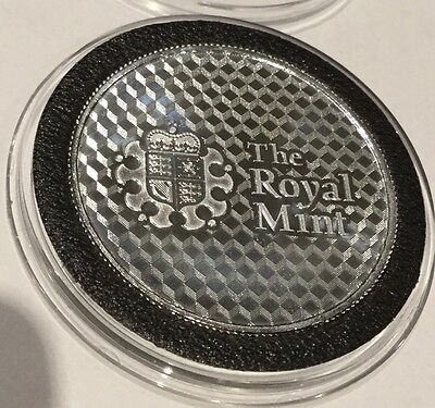 The Royal Mint Modern High Tech Look 1 Troy Oz .999 Fine Silver Round Coin Proof