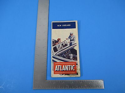 Vintage 1949 Atlantic Oil Co Map Of New England S2529