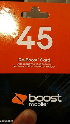 Boost Mobile $45 Refill Card
