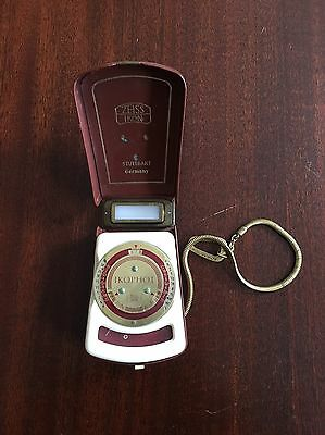 Vintage Zeiss Ikon Ikophot Light Meter w/Case & Brass Chain