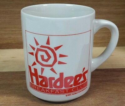 Vintage 1993 Hardees Breakfast Club Ceramic Coffee Mug