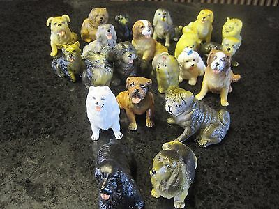 Collection of 20 soft plastic Miniature Dog Figurines