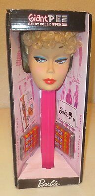 """Giant Pez Candy Roll Dispenser Barbie 2009 12"""""""