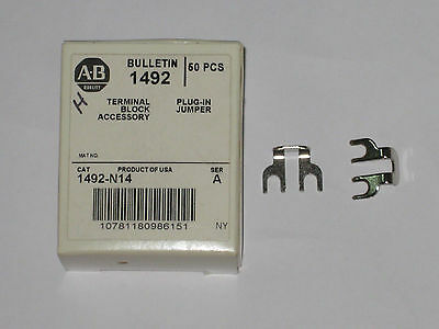 Allen Bradley terminal side jumper 1492-N14 new accessory qty 50