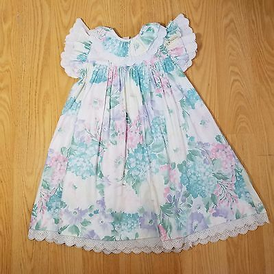 SIMI Vintage Size 3T Floral Lace Made In USA Spring Easter Girls Dress EUC 90's