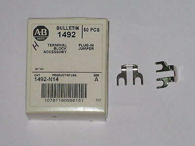 Allen Bradley terminal side jumper 1492-N14 new accessory qty 18 open box