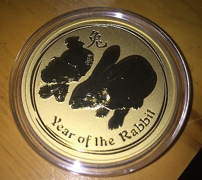 2011-P $200 G$200 AUSTRALIA LUNAR RABBIT  2 Oz. GOLD