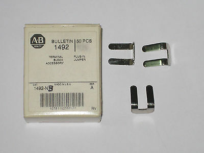 Allen Bradley terminal side jumper 1492-N3 new accessory qty 50 new box