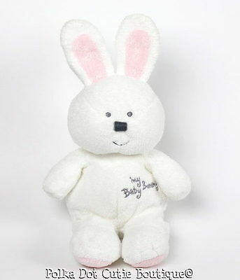 TY Pluffies White Pink My Baby Bunny 2005 Plush Toy