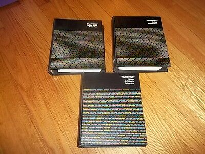 Set of Three 3 Pantone Color Guides & Swatch Book The Pantone Library of Color
