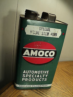 Vintage American Oil Co. Amoco Automotive Special Valve Stem #586 One Gallon Can
