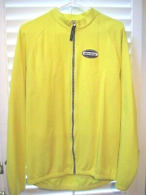 Vintage Giordana  Fit For Fashion  L S Yellow Polyester Cycling Jacket- Size ec30d049c