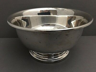 Sterling Silver Footed Bowl 4-1/2 inch diameter Revere Silversmiths No monogram