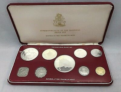 1976 Bahamas Proof Set 9 coins