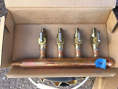 "4 Port 1/2"" PEX Manifold with Valves"