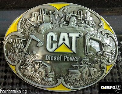 CAT CATERPILLAR diesel power Belt Buckle Farming Construction Gold Rush