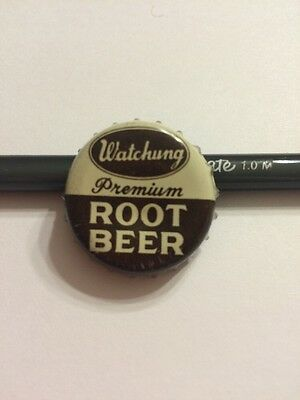 "Vintage ""watchung Premium Root Beer"" Soda Bottle Cap-Cork Lined. Plainfield, Nj"