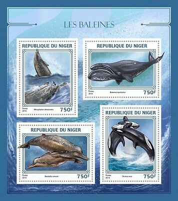 Z08 IMPERFORATED NIG16424a NIGER 2016 Whales MNH