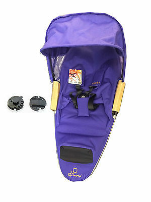 New Quinny zapp Xtra complete seat unit silver PURPLE PACE seat unit new
