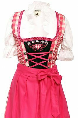 German,Trachten,Oktoberfest,Edelweiss,Dirndl Dress,3-pc.Sz.10,Fuchsia.FREE..