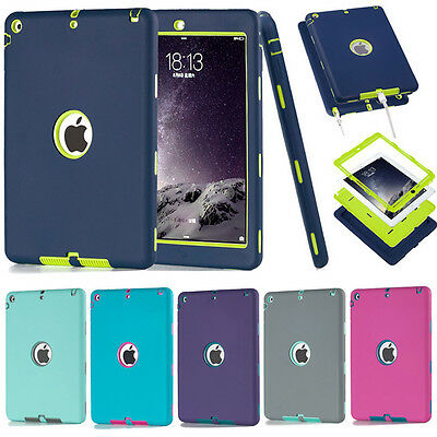 Heavy Duty Shockproof Hard Case Cover For Apple iPad Mini 1/2/3/4 Air PRO 9.7""