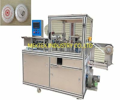 Automatic Pleated Round Soap/Urinal Block Cake Pleated Packing Wrapping Machine
